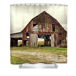 Still Standing Ohio Barn  Shower Curtain