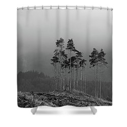 Shower Curtain featuring the photograph Still Standing by RKAB Works