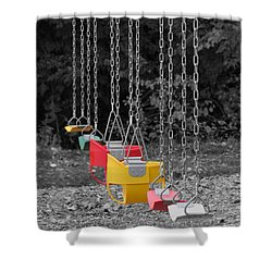 Still Swings Shower Curtain by Richard Reeve
