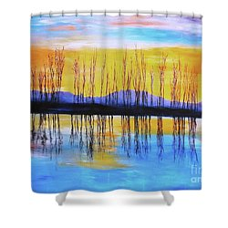 Still Waters From The Water Series  Shower Curtain