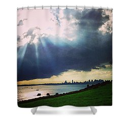 Still With The Gorgeous Light Boston Shower Curtain