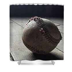 Baseball Still Life Shower Curtain