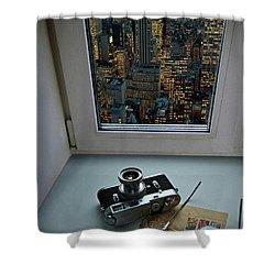 Stilllife With Leica Camera Shower Curtain