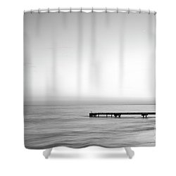 Shower Curtain featuring the photograph Stillness In Black And White by Ivy Ho