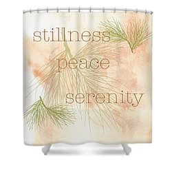 Stillness  Shower Curtain by Kandy Hurley