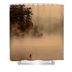Stillness Of Autumn Shower Curtain