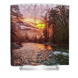 Stilly Sunset Shower Curtain