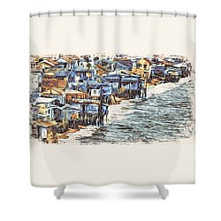 Stiltsville Shower Curtain