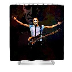 Shower Curtain featuring the digital art Sting 1 by Andrzej Szczerski