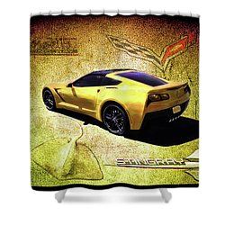 Shower Curtain featuring the drawing Stingray by Michael Cleere