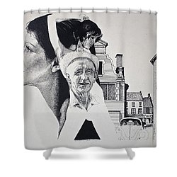 Stipple 2 --over The Hill Shower Curtain