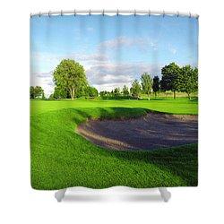 Stirling Golf Club 10th Shower Curtain by Jan W Faul