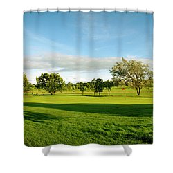 Stirling Golf Club 14th Shower Curtain