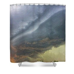 Stirred Up Sunset Shower Curtain