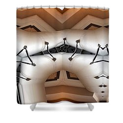 Stitched 1 Shower Curtain by Ron Bissett