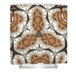 Stitched 2 Shower Curtain by Ron Bissett