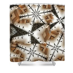 Stitched 3 Shower Curtain by Ron Bissett