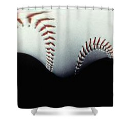 Stitches Of The Game Shower Curtain by Tim Allen