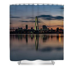 Stl Cityscape Shower Curtain by Jae Mishra