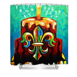 Stl250 Cakeway To The West Payne Gentry House Fleur De Lis Cake Shower Curtain by Genevieve Esson
