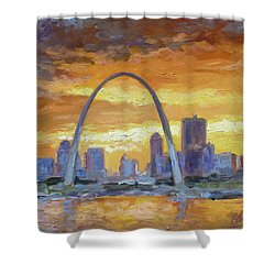 St.louis Arch - Sunset Shower Curtain