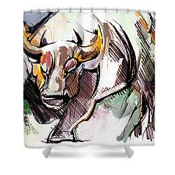 Stock Market Bull Shower Curtain