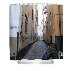 Stockholm Alley Shower Curtain