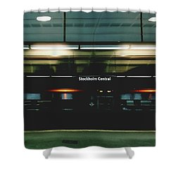 Stockholm Central- Photograph By Linda Woods Shower Curtain