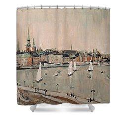 Stockholm Regatta Shower Curtain