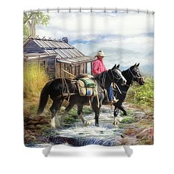 Stockman Of The Snowy Shower Curtain