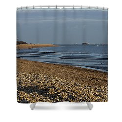 Stokes Bay England Shower Curtain by Terri Waters