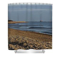 Stokes Bay England Shower Curtain