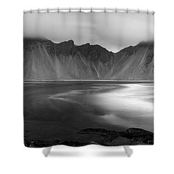 Stokksnes Iceland Bandw Shower Curtain