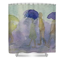 Stomping In The Rain Shower Curtain
