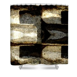 Stone Abstract Shower Curtain