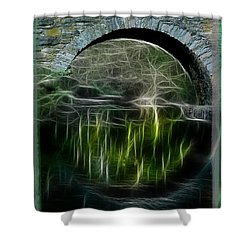 Shower Curtain featuring the photograph Stone Arch Bridge - Ny by EricaMaxine  Price