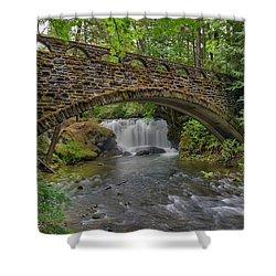 Stone Bridge At Whatcom Falls Park Shower Curtain