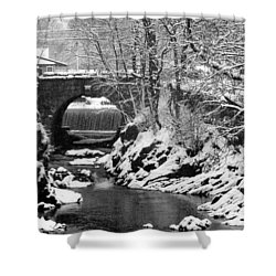 Stone-bridge Shower Curtain by John Scates