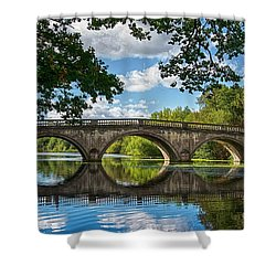 Stone Bridge Over The River 590  Shower Curtain