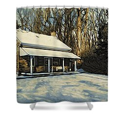 Stony Brook Meeting House Shower Curtain