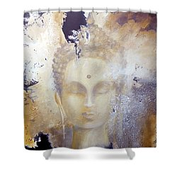 Stone Buddha Shower Curtain
