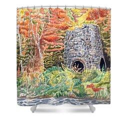 Stone Furnace Shower Curtain
