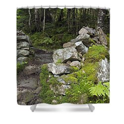 Stone Gate - Edmands Path - White Mountains New Hampshire  Shower Curtain by Erin Paul Donovan