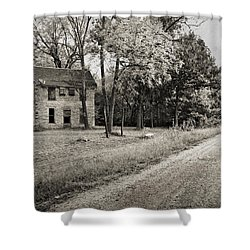 Stone House Road Shower Curtain