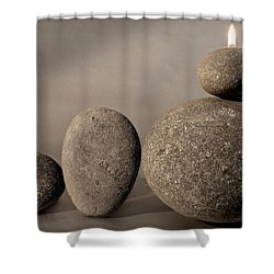 Stone Light Shower Curtain