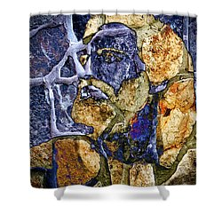 Shower Curtain featuring the photograph Stone Man by Pennie  McCracken