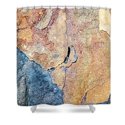 Shower Curtain featuring the photograph Stone Pattern by Christina Rollo