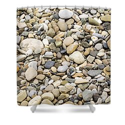 Shower Curtain featuring the photograph Stone Pebbles Patterns by John Williams