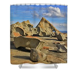 Shower Curtain featuring the photograph Stone Sculpture by Stephen Mitchell