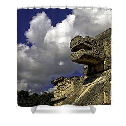 Stone Sky And Clouds Shower Curtain